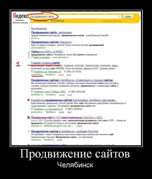 Продвижение сайтов Челябинск